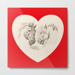 I LOVE HORSES  Metal Print