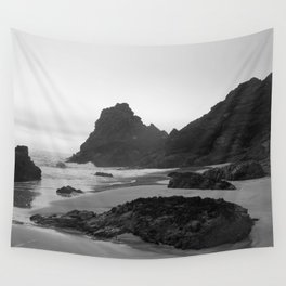 Mist Rolling in at Kynance Cove Wall Tapestry