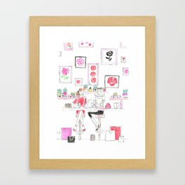 Cafe Girls Framed Art Print