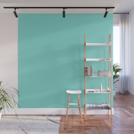 Aqua Blue Simple Solid Color All Over Print Wall Mural