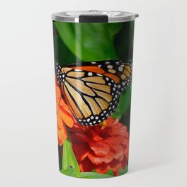 Monarch and the Mum by Teresa Thompson Travel Mug