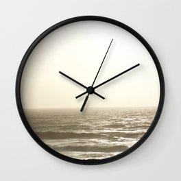 Slate Waves Wall Clock