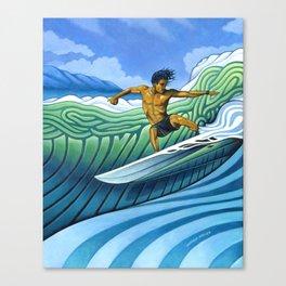 Tico Surfer Canvas Print