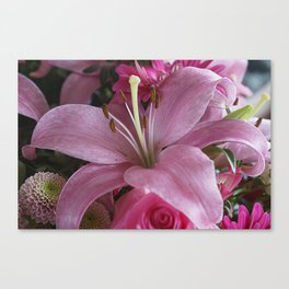 Lily Fountain Canvas Print