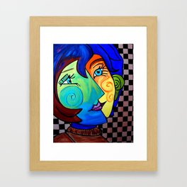 PICASSO BY NORA  CHECKER BOARD Framed Art Print