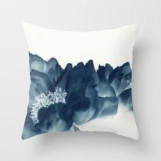 Blue Paeonia #1 Throw Pillow