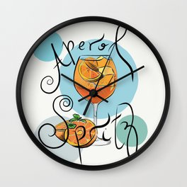 Aperol Spritz Wall Clock