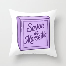 Savon de Marseille French Soap Throw Pillow