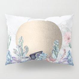 Desert Sun + Gemstones Gold Marble Pillow Sham