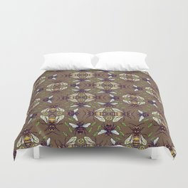 Flowers for Honey Bees Duvet Cover