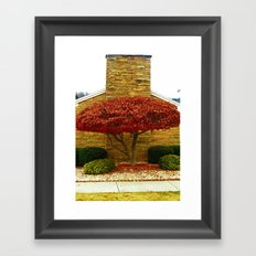 The One Wearing Red Framed Art Print