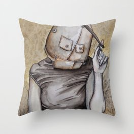 Coy conformity Throw Pillow
