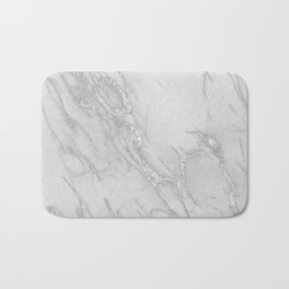 Marble Love Silver Metallic Bath Mat