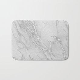 Marble Love Silver Metallic Bath Mat