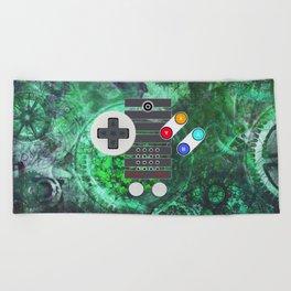 Classic Steampunk Game Controller Beach Towel
