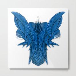 Ramshackler Blue Metal Print