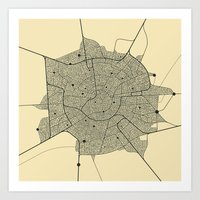 metropolis Art Prints featuring METROPOLIS by Jazzberry Blue