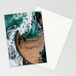 Seal Cove, Aerial Beach Photograph Stationery Cards