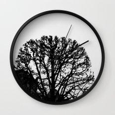 Tree Silhouette Wall Clock