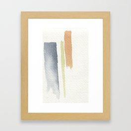tri-color Framed Art Print