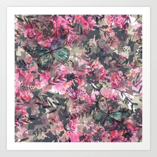 Butterfly in the Garden Art Print