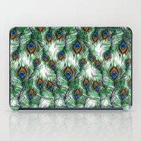 peacock feather iPad Cases featuring Peacock Feather by Vicky Ink.