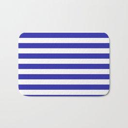 Stripes (Navy & White Pattern) Bath Mat