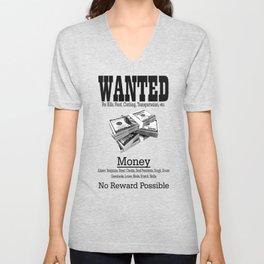 Wanted - Money Unisex V-Neck