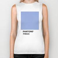 pantone Biker Tanks featuring PANTONE 7451C by cvrcak