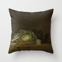 Willem Kalf - Cabbages on a Table Top Throw Pillow