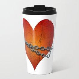 chained heart Travel Mug
