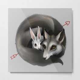 The Wolf and the Hare Metal Print