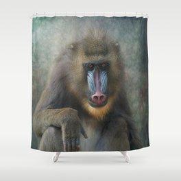 Mandrill Shower Curtain