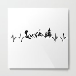 My Heart Beats For Nature Metal Print
