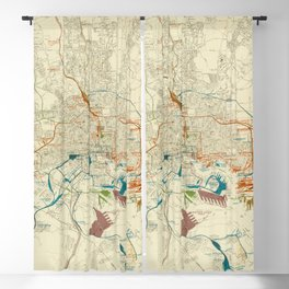 Vintage Baltimore MD Railroad Map (1922) Blackout Curtain