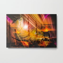 Romance of sailing Metal Print