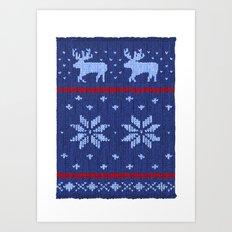 Winter Lovers Christmas Art Print