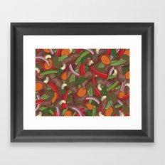 Beef Stir Fry Framed Art Print