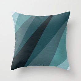 Six Shades of Sea Throw Pillow
