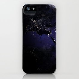The Earth at Night 1 iPhone Case