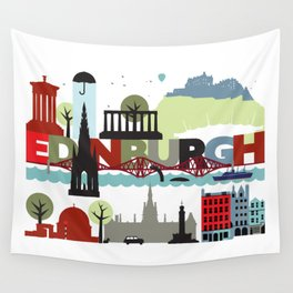 Edinburgh landmarks & monuments  Wall Tapestry