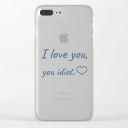 The Romantic Quote Clear iPhone Case