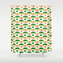 Flag of India 3-indian,mumbai,delhi,hindi,indus,buddhism,hinduism,buddha,gandhi Shower Curtain