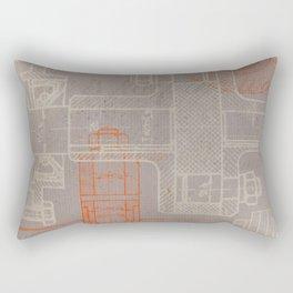 Steampunk engineering schematic Rectangular Pillow