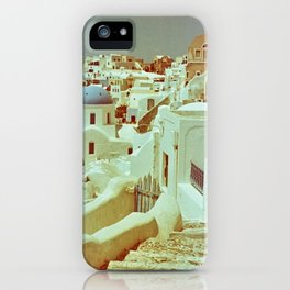 Santorini in Raspberry and Blue II: shot using Revolog 600nm special effects film iPhone Case