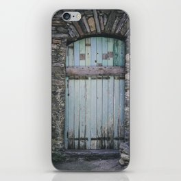 Old Blue Door II iPhone Skin