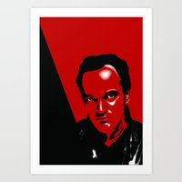 quentin tarantino Art Prints featuring Tarantino by denrees