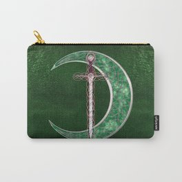 Green Celtic Moon Carry-All Pouch