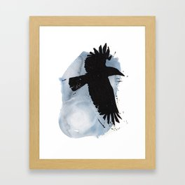 Raven Moon Framed Art Print