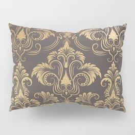 Gold foil swirls damask #10 Pillow Sham